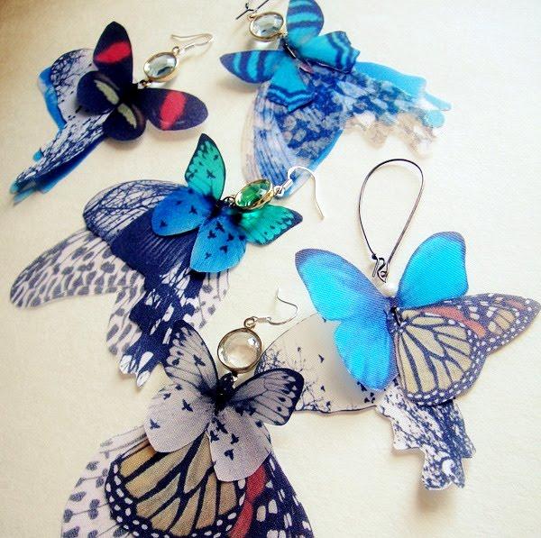 Бабочки из шелка мастер класс