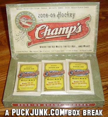2008-09 Champ's Hockey box breakdown