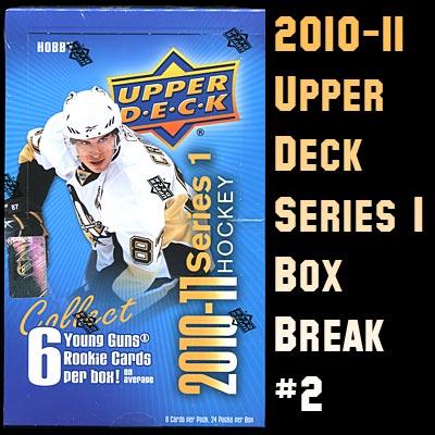 2010-11 Upper Deck Series 1 box break #2