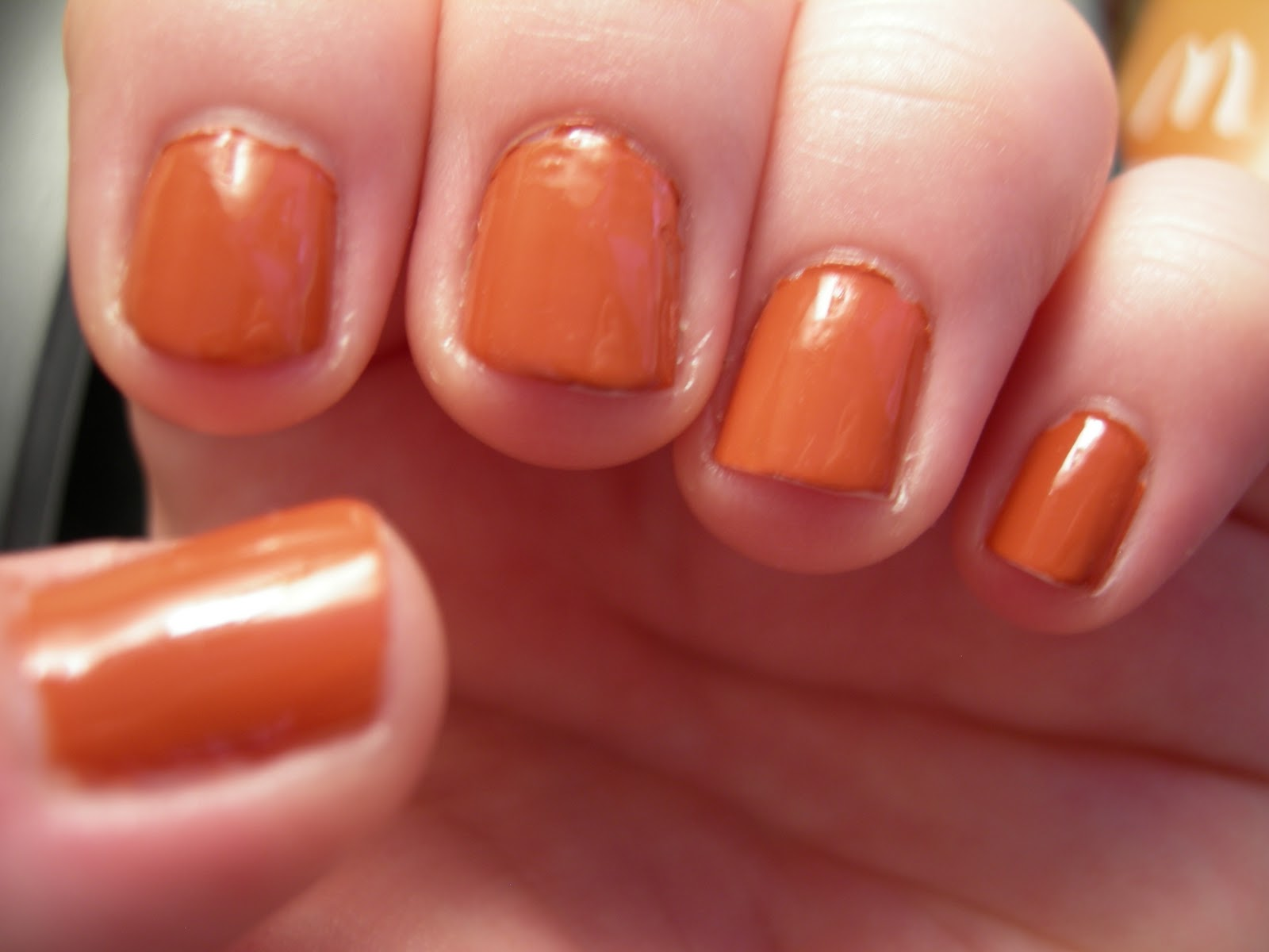 Opi A Good Mandarin Is Hard To Find Vs Hot And Spicy Good thing my polish hasn t