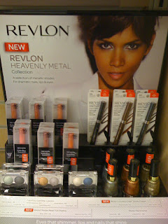 Revlon Heavenly Metals display