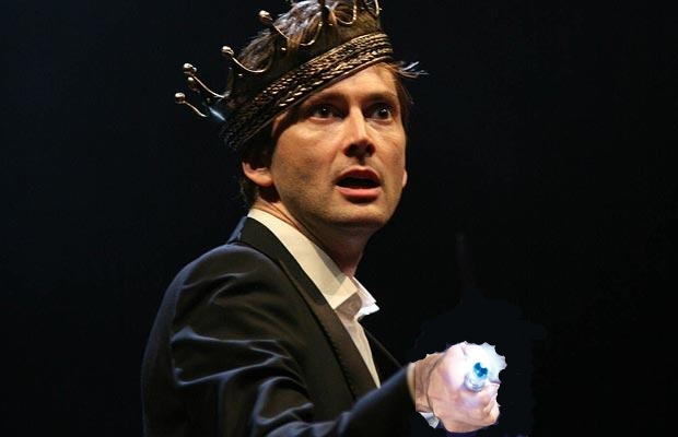 David Tennant as Hamlet with sonic screwdriver