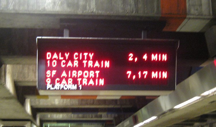 New format for the dot matrix signs in BART