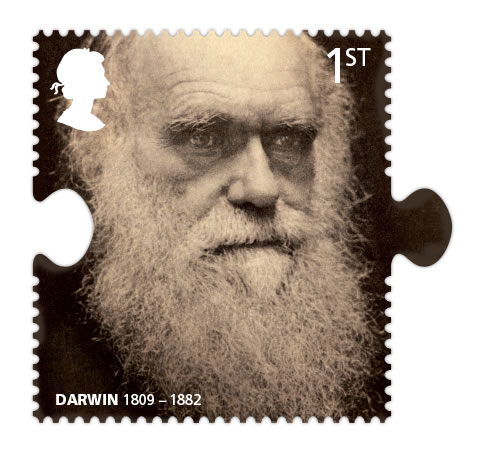darwin portrait stamp