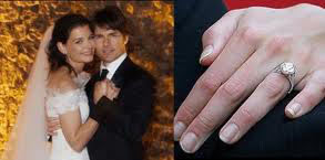 Extraordinary Edwardian Style oval shaped diamond ring - Katie Holmes and Tom Cruise