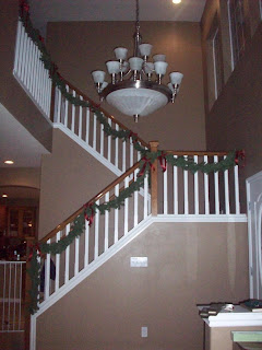 Look, Mom! I have a banister!