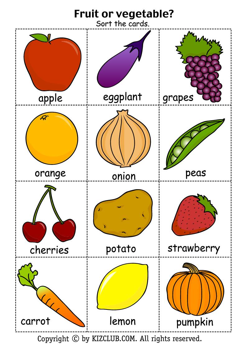 ENGLISH IS FUN: FRUITS OR VEGETABLE?