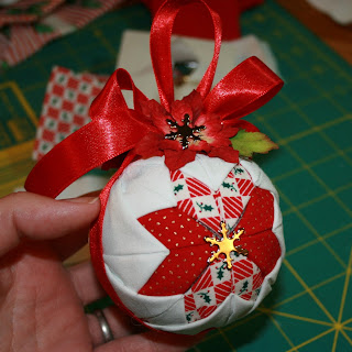 How to Make a Quilted Ball Christmas Tree Ornament | eHow.com