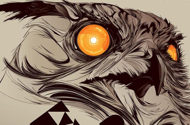 Drawn Owl Desktop Wallpaper