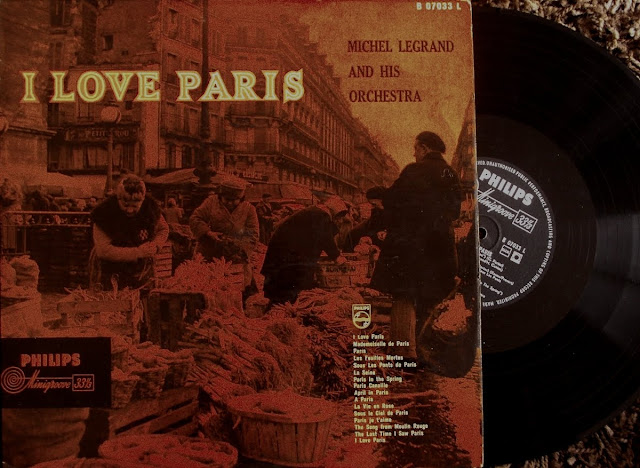 Michel Legrand and  his Orchestra - I Love Paris on Philips Minigroove 1961