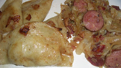 Homemade Pierogies and Cabbage Kielbasa