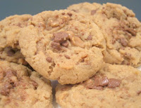 Toffee Peanut Butter Cookies