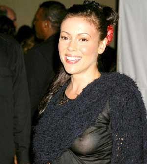 Alyssa Milano Nipple Slip