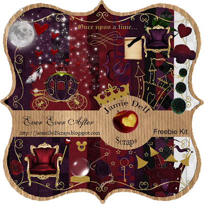 "Scrapbook Freebie Kit ""Ever Ever After"" from Jamie Dell Scraps"
