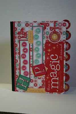 altered composition book holiday planner