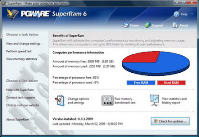 PGWare SuperRam 6.10.4.2010 - software gratis, serial number, crack, key, terlengkap