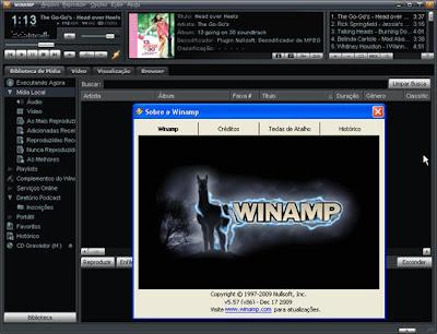 Các phần mềm giải trí phổ biến, bản portable. Portable Winamp Pro 5.57 Bui