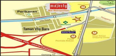 Peta Majesty di MM - Bekasi