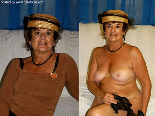 hot dressed and undressed granny