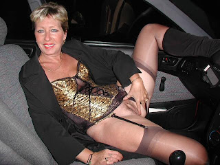 horny wife in car