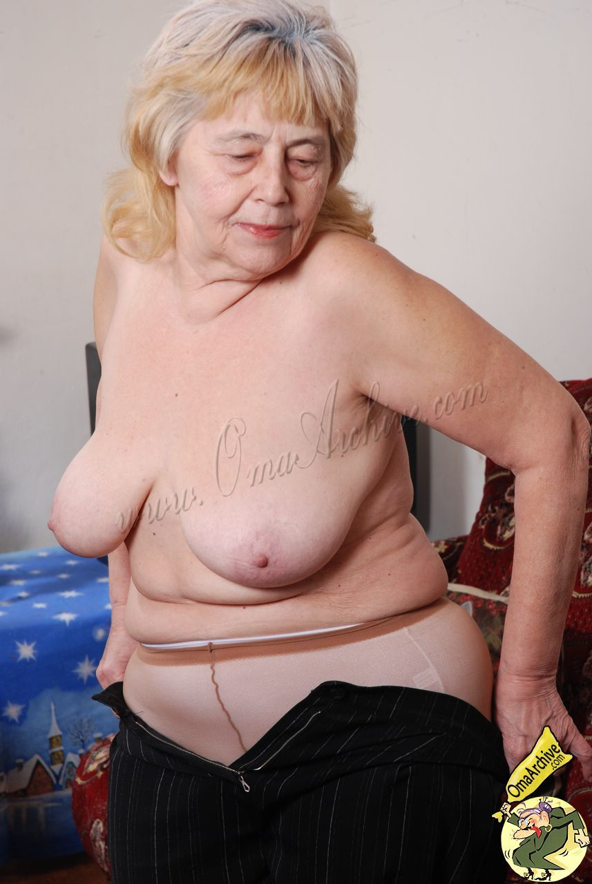 Old granny naked