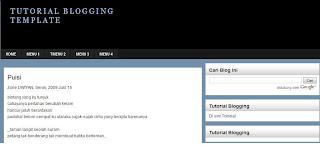 tutorial blogging template, template 4 column, template 3 column, template elegant, template adsense