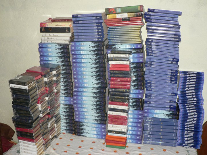 Bibles donated for distribution