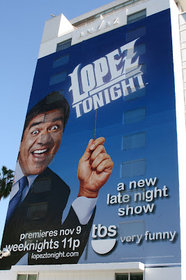 Cheesy Lopez Tonight TV billboard