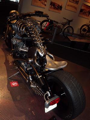 Skeleton motorbike