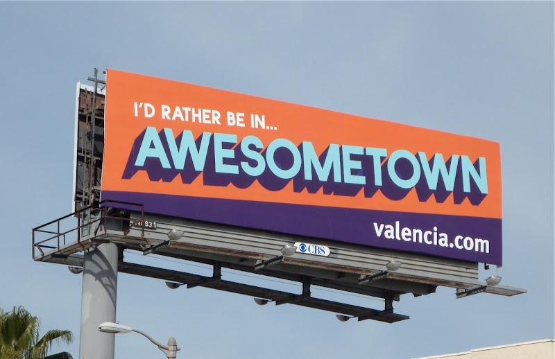 Awesometown Valencia property billboard