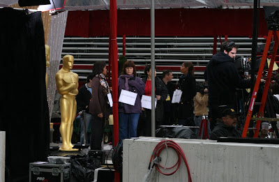 Oscar red carpet rehearsals