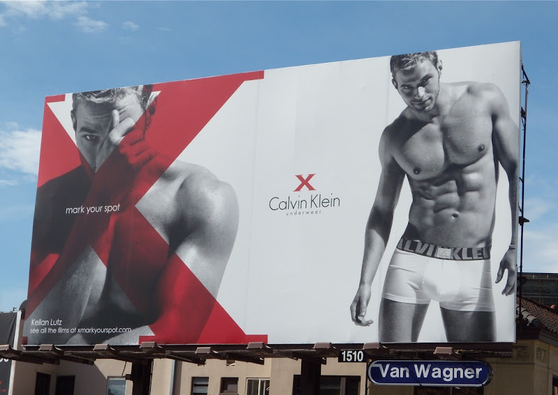 Kellan Lutz Calvin Klein X underwear billboard