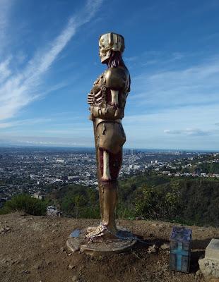 DFACE Oscar statue Runyon Canyon 2010