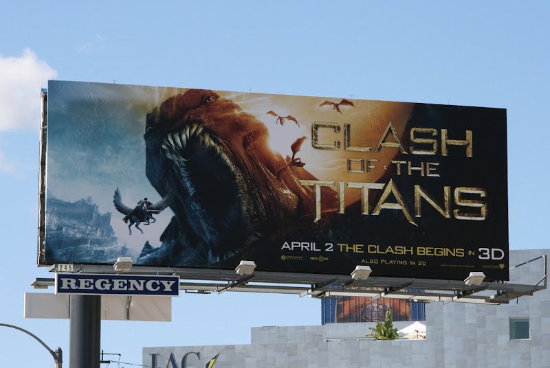 Clash of the Titans movie billboard