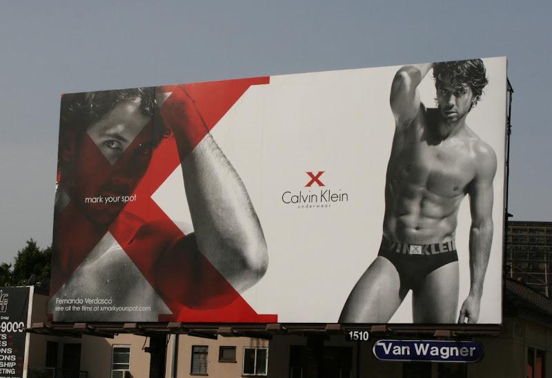Fernando Verdasco Calvin Klein X underwear billboard