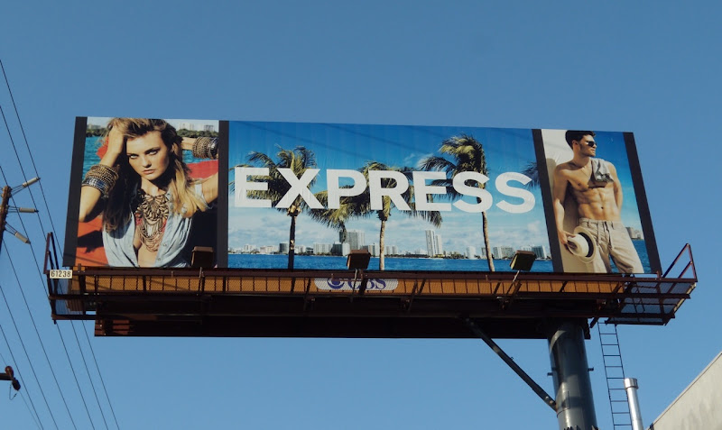 Express March 2010 fashion billboard