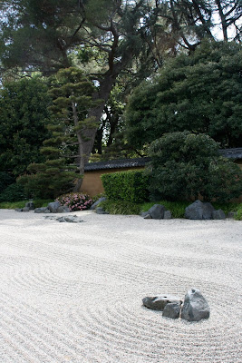 Zen dry landscape garden Huntington