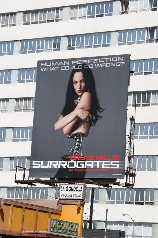 Surrogates female robot film billboard