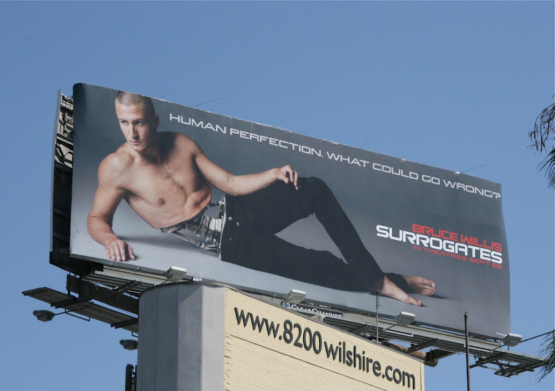 Surrogates hot male model billboard