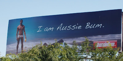 Aussie Bum billboard on Santa Monica Blvd