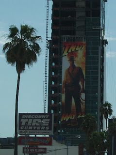 Indiana Jones movie billboard on Sunset & Vine, L.A.