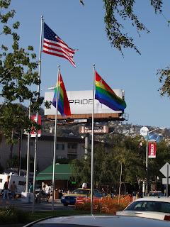 permanent Pride flags on Santa Monica Blvd