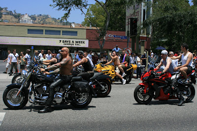 Gay bikers roar through the Parade