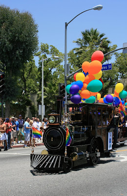 The Gay steam train comes rolling through West Hollywood...