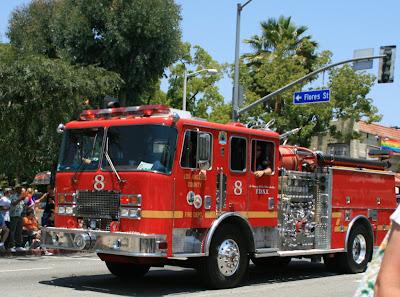 Pride Parade Fire Truck
