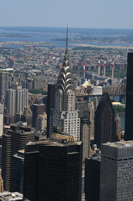 The Chrysler Building from above