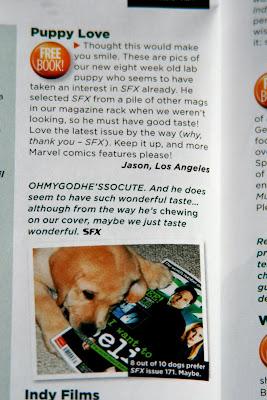 Cooper's Star Letter in September 2008 issue of SFX