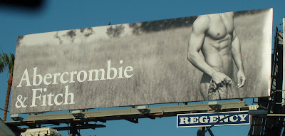 Abercrombie & Fitch male model billboard from March 2008 photographed on Sunset Blvd