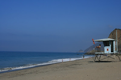 Sycamore Cove Lifeguard hut in Ventura County