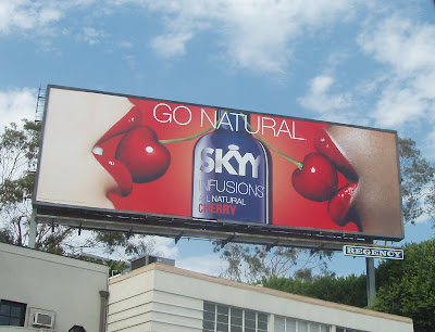Skyy vodka Fushion Cherry flavour billboard